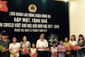 LĐLĐ quận Đống Đa trao 72 suất quà cho các cháu con CNVCLĐ quận
