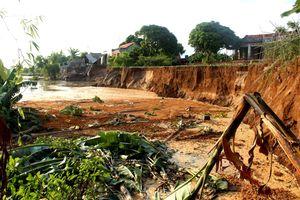 Hải Dương Sạt lở nghiêm trọng ở xã Nhân Huệ, Thị xã Chí Linh