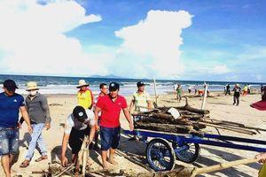 Đà Nẵng: Thu gom gần 10 tấn rác tấp vào bờ biển