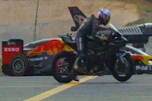 Cận cảnh cuộc đua tốc độ giữa chiến đấu cơ, ô tô F1 và siêu mô tô