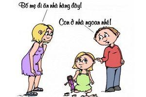 Sáng cười: Con gái bất bình trước lý do bố mẹ đi 'ăn mảnh'