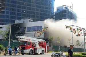 Yên Bái: Cháy tại công trình đang thi công của Tập đoàn Tôn Hoa Sen