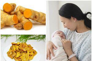 Món ngon từ nghệ cho phụ nữ sau sinh bồi bổ khí huyết