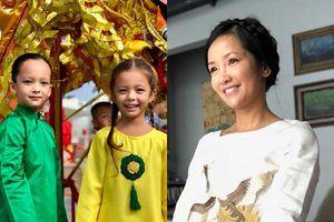 Sau ly hôn, Hồng Nhung tất bật giúp 2 con đón Trung thu ấm áp dù không có ba bên cạnh