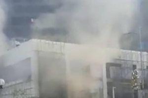 Yên Bái: Cháy lớn tại khu trung tâm thương mại 4 sao Hoa Sen