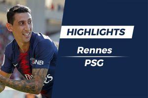 Highlights Di Maria sút xa ghi bàn, PSG ngược dòng thắng Rennes