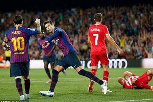 Messi lập công, Barca vẫn đứt mạch trận toàn thắng!