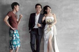 Ảnh chế 'người thứ 3' bị bắt xuất hiện trong ảnh cưới của Trường Giang - Nhã Phương vì… 'quá thân'