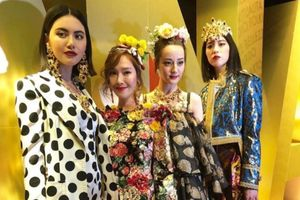 Địch Lệ Nhiệt Ba và Jessica Jung đẹp lộng lẫy trong show diễn của Dolce & Gabbana
