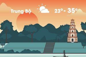Thời tiết ngày 25/9: Miền Trung nắng nóng 35 độ C