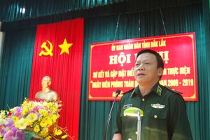Gắn phát triển kinh tế-xã hội với củng cố quốc phòng-an ninh trên địa bàn biên giới tỉnh Đắk Lắk