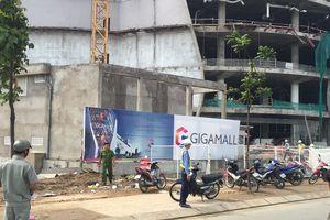 3 công nhân rơi xuống đất: Đình chỉ dự án Trung tâm thương mại Giga Mall