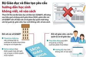 Bộ Giáo dục và Đào tạo yêu cầu hướng dẫn học sinh không viết, vẽ vào sách