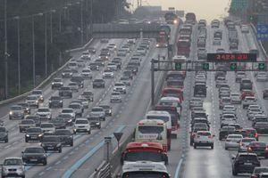 Lưu lượng giao thông Hàn Quốc tăng đột biến dịp Trung Thu