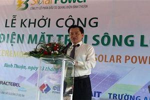 Bình Thuận khởi công nhà máy điện mặt trời 1.000 tỷ đồng
