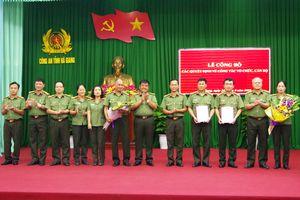 Công an Hà Giang tổ chức Lễ công bố các Quyết định về công tác tổ chức cán bộ