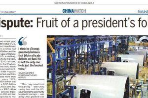 Trung Quốc 'chơi đòn hiểm', đăng bài tác hại chiến tranh thương mại trên báo Mỹ