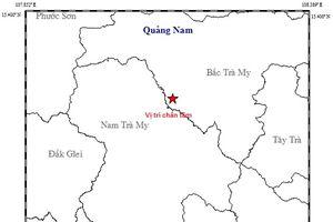 Tiếp tục xảy ra động đất ở Quảng Nam