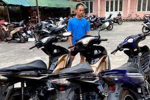 Bắt đối tượng chuyên vào bệnh viện trộm xe máy