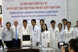 BV Đà Nẵng tiếp nhận máy siêu âm tim trị giá 1,9 tỷ đồng