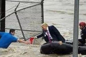 Ảnh chế Tổng thống Trump 'đích thân cứu nạn nhân lũ lụt' gây bão mạng