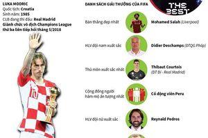 Luka Modric - cầu thủ xuất sắc nhất năm của FIFA
