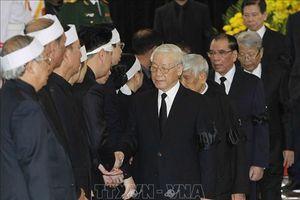 Đoàn BCH Trung ương Đảng viếng Chủ tịch nước Trần Đại Quang