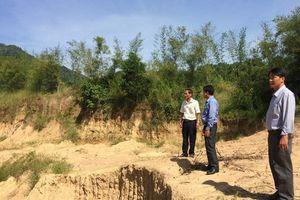 Báo động tình trạng khai thác cát núi 'chui' ở An Giang