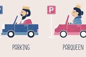 Bộ tranh minh họa chơi chữ tiếng Anh thông minh với các từ trái nghĩa