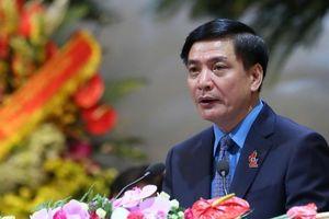 Đồng chí Bùi Văn Cường tái đắc cử Chủ tịch Tổng Liên đoàn Lao động Việt Nam