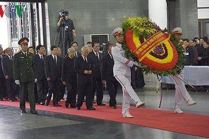 Đoàn đại biểu Đảng, Nhà nước viếng Chủ tịch nước Trần Đại Quang