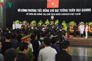 Khoảng 1.500 đoàn đến viếng Chủ tịch nước Trần Đại Quang ngày 26/9