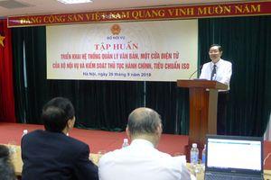 Bộ Nội vụ tập huấn triển khai hệ thống quản lý văn bản, một cửa điện tử