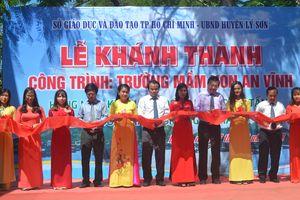 Ngành giáo dục TP Hồ Chí Minh đóng góp xây dựng trường mầm non ở huyện đảo Lý Sơn
