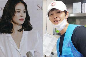 Song Hye Kyo đóng phim xa nhà, Song Joong Ki làm từ thiện mùa Trung thu