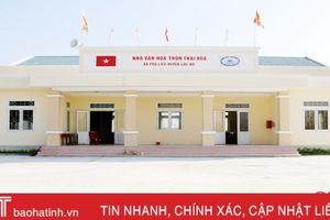 Lộc Hà đầu tư trên 56 tỷ đồng 'thay áo' cho nhà văn hóa thôn