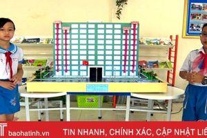 Xem sáng chế hệ thống cứu sinh ở chung cư của học sinh Hà Tĩnh