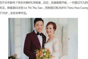 Chuyện tình của cô dâu 61 tuổi lấy chồng trẻ ở Cao Bằng gây xôn xao trên báo nước ngoài