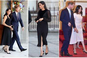 Dù diện nhiều váy áo đắt tiền nhưng thực tế Meghan lại rất 'tiết kiệm' giày dép