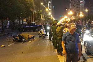 Thanh sắt giàn giáo rơi xuống đường Lê Văn Lương, cô gái trẻ tuổi tử vong thương tâm