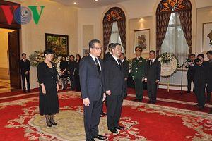 Chủ tịch Quốc hội Trung Quốc viếng Chủ tịch nước Trần Đại Quang