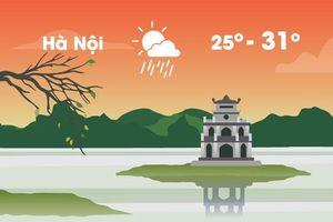 Thời tiết ngày 28/9: Hà Nội mưa dông, Sài Gòn nắng ráo buổi sáng
