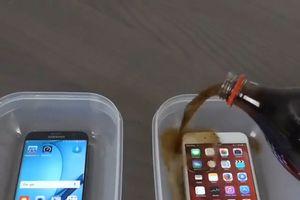 Dùng Coca ngâm iPhone, Samsung Galaxy rồi đông thành đá thử độ bền