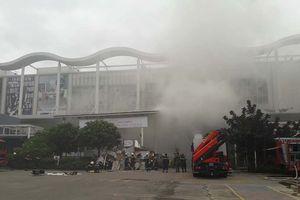 Cháy giả định tại Trung tâm thương mại Aeon Mall Long Biên, cảnh sát cứu thoát nhiều người