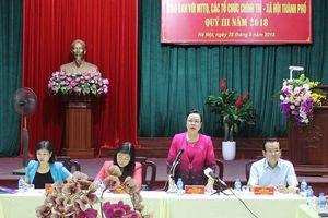 Phó Bí thư Thường trực Thành ủy Ngô Thị Thanh Hằng: Không để hình thành, phát sinh các 'điểm nóng'
