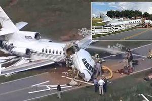 2 người chết, 2 người bị thương sau khi máy bay trượt khỏi đường băng gãy làm đôi