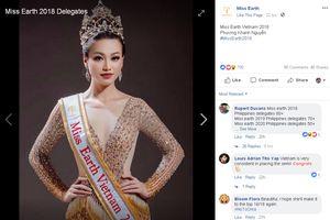 Á hậu Phương Khánh đại diện Việt Nam dự thi Miss Earth 2018
