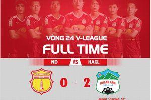 Công Phượng ghi bàn, HAGL đẩy Nam Định vào cuộc chiến sinh tử