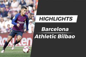 Highlights Messi vào sân từ ghế dự bị, Barca vất vả hòa Bilbao