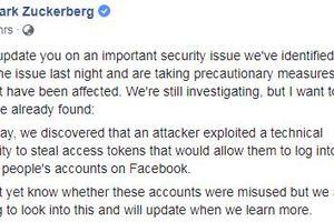 Ông chủ Facebook cập nhật lỗi bảo mật gấp trên trang cá nhân, người dùng Việt cần làm gì?